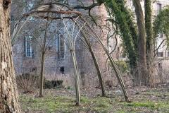 Levende dome voor beursstand @ Chateau d`Esquelbecq
